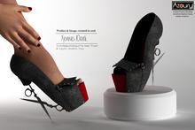 AZOURY - Xenius High heels [Dark]