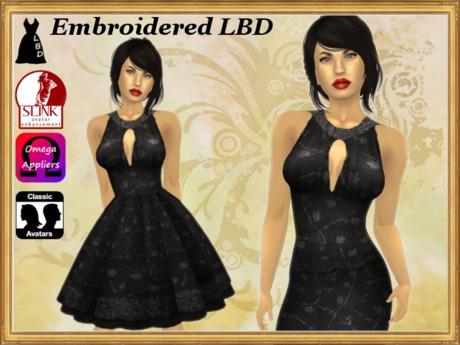 *LBD* Black Embroidered Dress