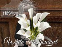 p-a-b white calla bouquet