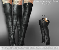*IS* Lowland Knee-High Boots BLACK