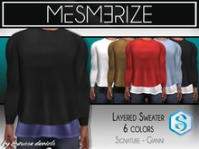 Mesmerize // Layered Sweater 6 Colors for [Signature]Gianni