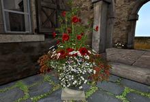 CJ Garden Planter red Flower - c + m -