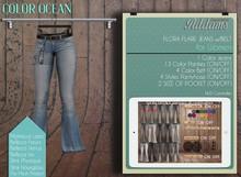 "Addams ""Flora"" Mesh Jeans - Maitreya Belleza Slink Womens Jeans # Ocean"
