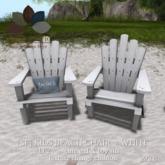 [sf] kids beach chair set - white