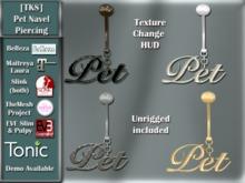 [TKS] Pet Navel Piercing with HUD for Belleza, Maitreya, Eve, Slink, TMP and Tonic
