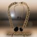 Curb n pearls blackened chain gold ad