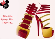 .:.MS.:. Gift Shoes Red&Gold Gift