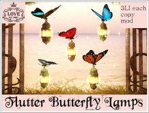 LOVE - BUTTERFLY LAMP SET  - MAGICAL FANTASY