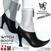 Wicca's Wardrobe - Witch Boots [White/Black] [BOXED]