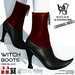 Wicca's Wardrobe - Witch Boots [Red/Black] [BOXED]