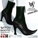 Wicca's Wardrobe - Witch Boots [Green/Black] [BOXED]