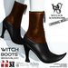 Wicca's Wardrobe - Witch Boots [Brown/Black] [BOXED]