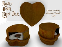 Rusty Heart Shaped Litter Box