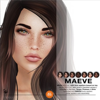 7 Deadly s[K]ins - MAEVE mesh skin box FRECKLED