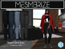 Ripped Skinny Jeans by Mesmerize For [Signature] Gianni