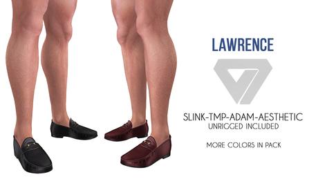 ILLI - [SLink,MeshProject Men,Aesthetic,Adam] Lawrence Loafers (HUD Driven) - PROMO