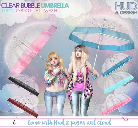 NS::  Clear Bubble Umbrella (HUD)