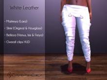 GIVORIA - Overall Mesh - White Leather (Maitreya Pants, Slink Pants, Belleza Pants, Clothing)
