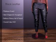 GIVORIA - Overall Mesh - Black Leather (Maitreya Pants, Slink Pants, Belleza Pants, Clothing)