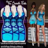 T7E: Strapped Dress - Blues