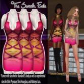 T7E: Strapped Dress - Peachberry v2
