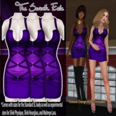 T7E: Strapped Dress - Purples