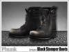 [Phunk] Black Stomper Boots