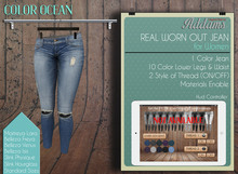 Addams - Real Worn Out Jeans - Ocean