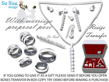 [SuXue Mesh] Rejtem Bento & Classic Unrigged Wedding Rings & Bands Set Resize Female & Male