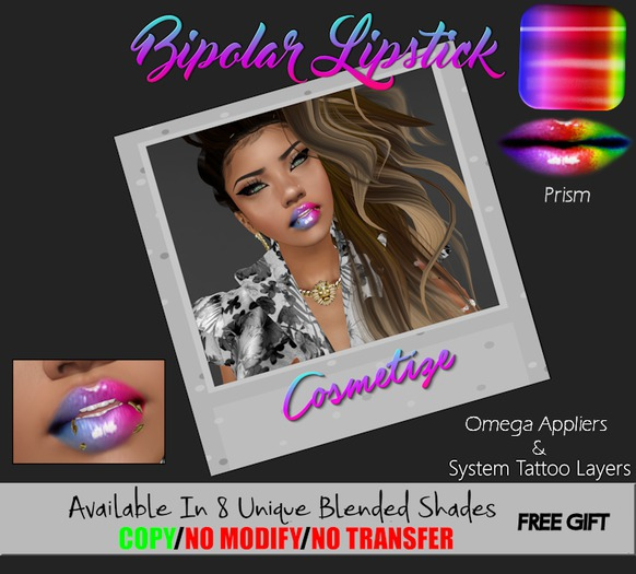 .:: [ CoSMtZ ] ::. BiPolar Lipstick. ( Prism ) *GIFT*