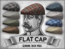 [Phunk] Tweed Flat Cap (9 Colors)