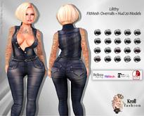 :: KF - Lilithy Fitmesh Overralls + HUD 20 Models  ::