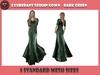 .::X::. - Exuberant Sequin Gown - Dark Green