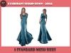 .::X::. - Exuberant Sequin Gown - Aqua