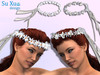 [SuXue Mesh] Circlet Headband Ribbon White Resize