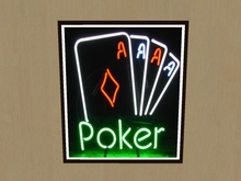 Picture - Poker Neon Sign