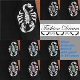 Silver Scorpion Brooch 10 Gem colors - Fashion DreamAccessories