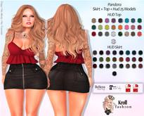 ::KF - Pandora Skirt + Top + HUD 25 models ::