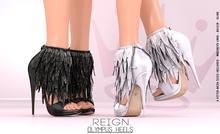 REIGN.- OLYMPUS HEELS- FATPACK MAITREYA, BELLEZA, SLINK, TMP ORIGINAL MESH HEELS, MESH PUMPS