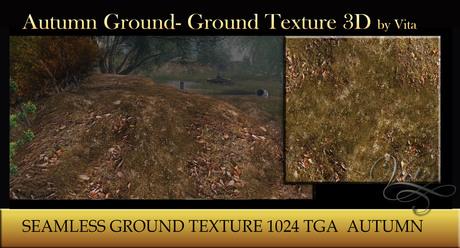 Vita's Textures - Autumn Ground SEAMLESS 3D