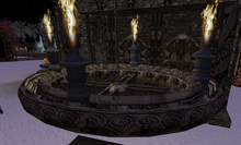 Castle furniture : Chandelier,Medieval rustic sculpted wood and bronze