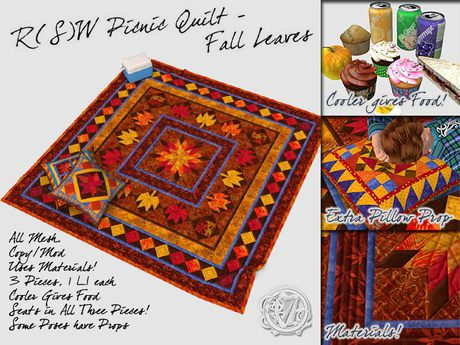 R(S)W  Picnic Quilt - Fall Leaves