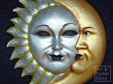 SUN and MOON Venetian MASK Wall Decoration*