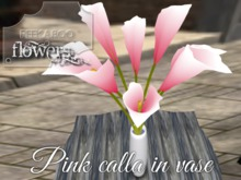 p-a-b pink calla in vase