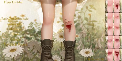 (Enfer Sombre*) Tattoo - Fleur Du Mal {fatpack}