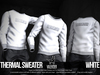 [VALE KOER] THERMAL SWEATER WHITE