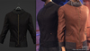 (AMD) Leather Jackets - Black (wear to unpack)