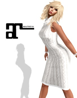 XK Maitreya Cowl Dress Sweater Winter White
