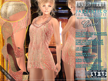 Bella Moda: Jazzistico Coral Jazzy Outfit - Fitted for Maitreya/TMP/Physique/Hourglass/Isis/Venus/Freya+Std FULL