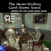 Halloween Scene Dead Man Card game with sounds and props